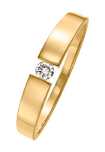 CHRIST Diamonds Damen-Ring 585er Gelbgold ca. 0,08 Karat gold, 58 (18.5)