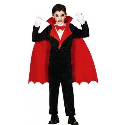 Dracula Graf Kinder Kostüm - Guirca Kinder Vampir Kostüm Gr. 98-146, Größe:140/146