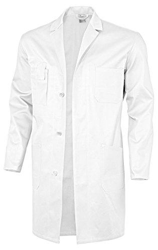 Lab Mantel Kind Kostüm - Qualitex Berufsmantel-Basic 100% CO 240 G/M² Farbe Weiss Größe 58