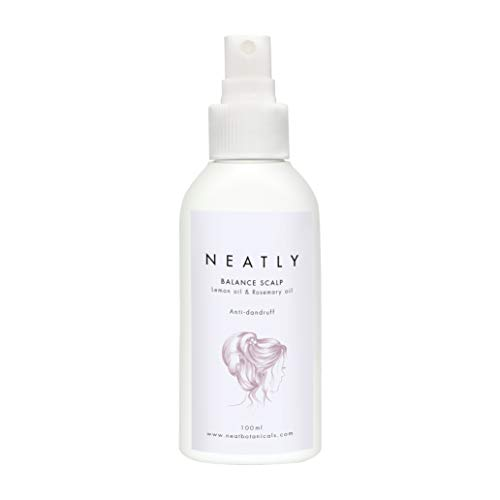 Soin cheveux NEATLY | Antipelliculaire pour cuir chevelu | Spray huile argan bio et romarin 100ml | Alternative au shampooing antipelliculaire