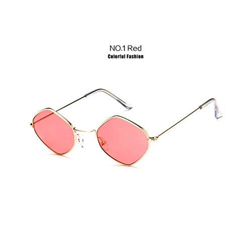 Sportbrillen, Angeln Golfbrille,Fashion Women Vintage Sunglasses Men Alloy Frame Ocean Purple Blue Clear Sun Glasses Small Frame Cat Eye Glasses UV400 Red