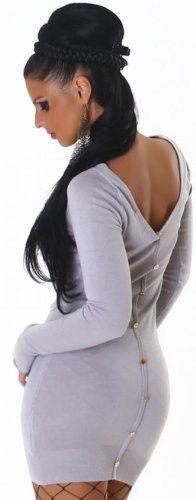 JELA London - Robe - Crayon - Uni - Manches longues - Femme Gris - Grey - Light gray