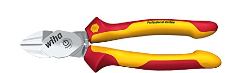 Wiha Hochleistungs-Seitenschneider BiCut® Professional mit DynamicJoint® VDE (38191), Bolzenschneider für elektrische Arbeiten, Kombizange zum Draht schneiden, Drahtschneider, Kraftzange