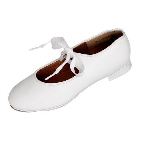 Capezio 925 Bianco Toccare Scarpe tacco basso Medio Fit Bianca