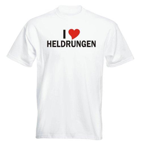 T-Shirt mit Städtenamen - i Love Heldrungen - Herren - unisex Weiß