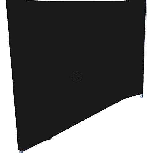 Cablematic Komplette Seitenklapp Leinwand Zelt 300cm schwarz