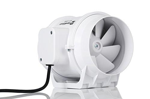 Hon&Guan Extractor Ventilador de Aire en Línea Super Ligero y Silencioso -...