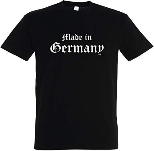 Textildruck Universum Herren T-Shirt Made in Germany (XL, Schwarz)
