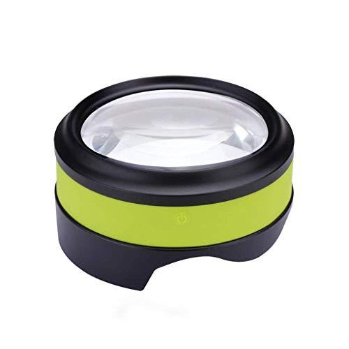 Handheld 5X Illumination Lupe mit LED-Licht HD-Objektiv zum Lesen von Büchern, Identifizierung von Schmuck, Uhr, Basteln und Gravieren und Reparieren, 15x15x10cm