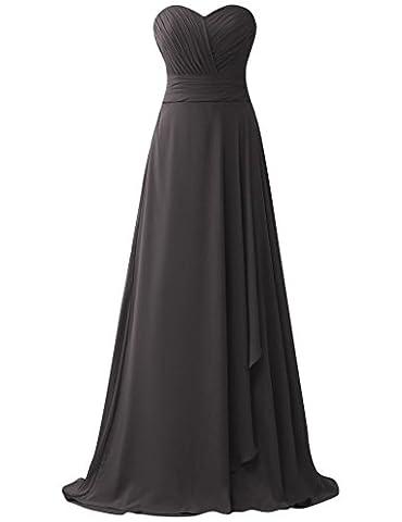 HUINI Pleats tr?gerlosen Chiffon Lange Prom Abendkleider Brautjungfer Party Kleider Size 48