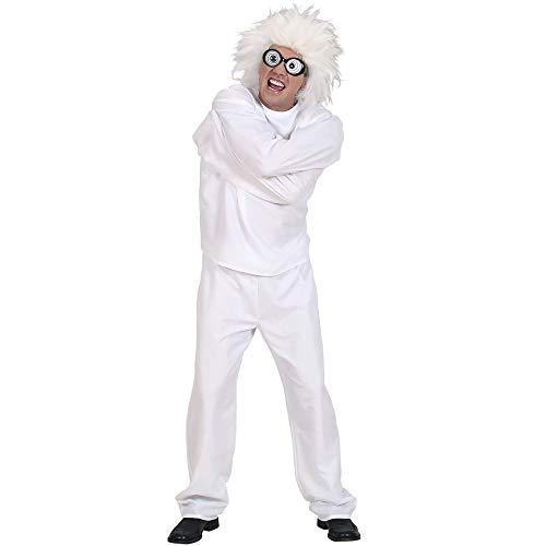 Widmann 59162 - Erwachsenenkostüm Wahnsinniger, Zwangsjacke und Hose, wei, Gröe (Die Irrenanstalt Halloween Kostüm)