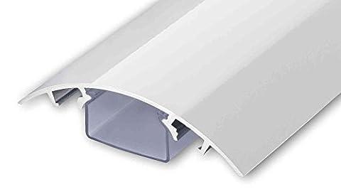 TV Design Aluminium Kabelkanal in weiss Hochglanz lackiert in verschiedenen Längen von ALUNOVO (Länge: (Kabelkanal Für Tv)