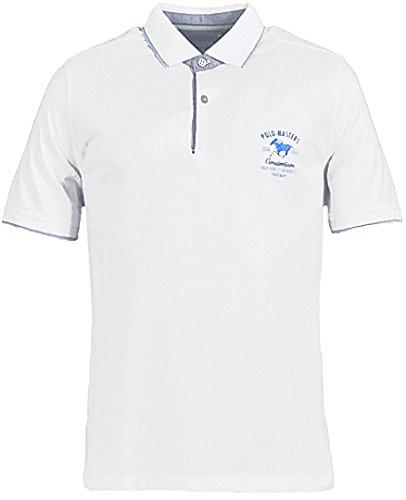 Hajo - Herren Polo Shirt kurzarm weiss Modern-Fit - Piqué - Stay-Fresh Weiß