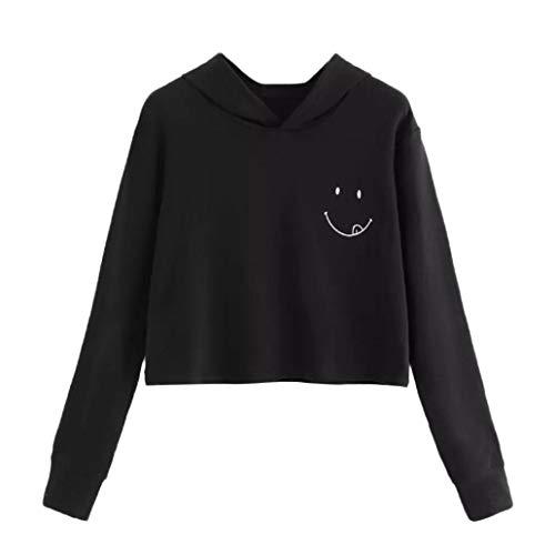 TWIFER Damen 2019 Herbst Langarm Hoodie Sweatshirt Pullover mit Kapuze - Trikot Kurzarm Ringer T-shirt