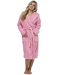 Ladies Pure 100% Cotton Luxury Towelling Bath Robes Dressing Gowns 1f59610c1