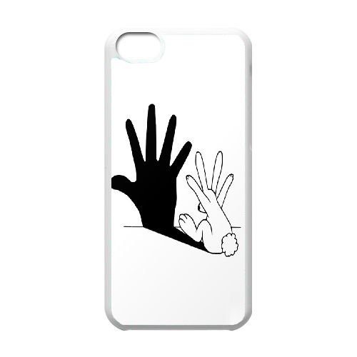 TOPDIY Customized Cover Case for iPod Touch 6 with Rabbit Hand Shadow