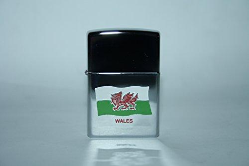 Walisischer Drache Zippo Feuerzeug und Schlüsselanhänger Geschenk-Set