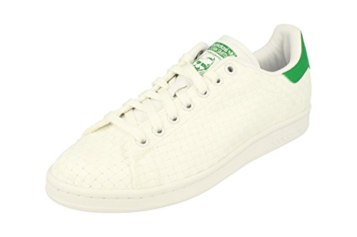adidas originals stan smith mens trainers sneakers shoes (uk 9 us 9.5 eu 43 1/3, white white green S77267)