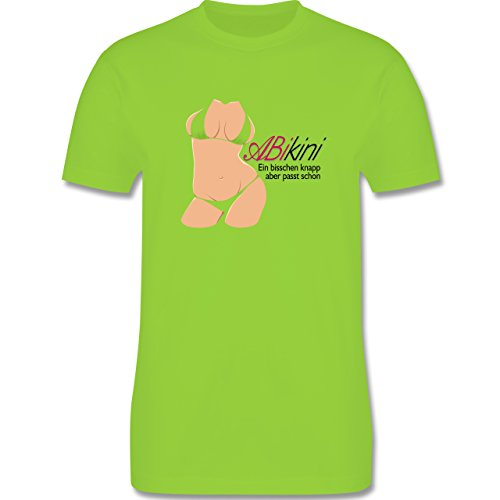 Abi & Abschluss - ABIkini - ein bisschen knapp - Herren Premium T-Shirt Hellgrün