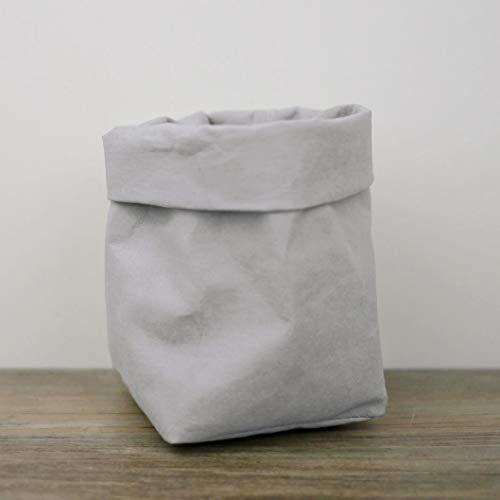 (sujing Papier Staubbeutel waschbar Papier Staubbeutel für Lebensmittel Aufbewahrungskorb Wasserfestes Papier Blumentöpfe 12 * 12 * 23cm grau)