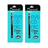#8: Lakme Eyeconic Kajal (pack of 2) Deep Black, 0.35 g
