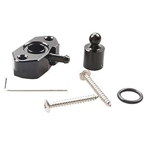 Vosarea Auto Turbo Vakuum Adapter Metall Turbo ladedruckanzeige tap Adapter vakuumsensor Auto Motor zubehör (schwarz)