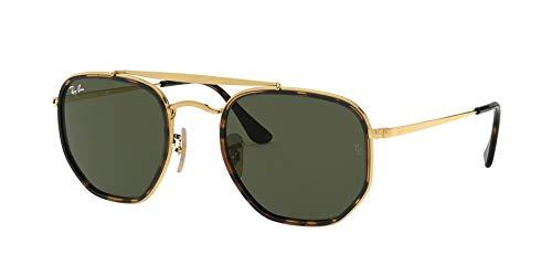 Ray-Ban Unisex-Erwachsene 0RB3648M Sonnenbrille, Schwarz (Gold), 52