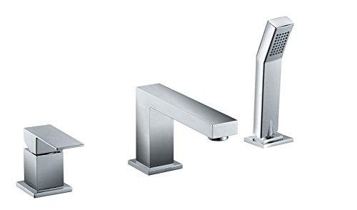 Modern Design 3 Loch Armatur Badewanne Wannenrand Chrom Sanlingo
