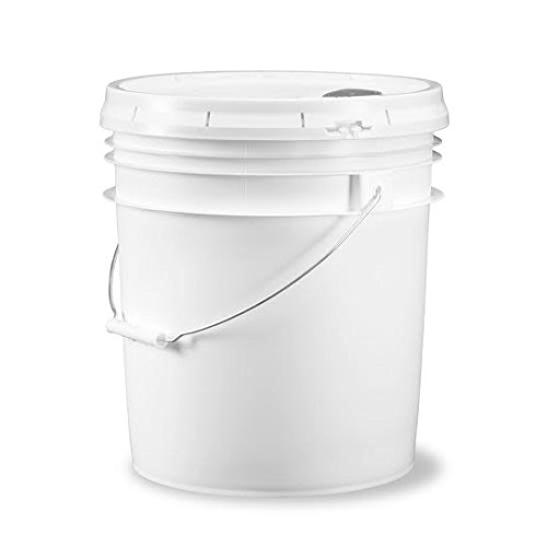 food grade 5gallone (18.92litri) secchio-Confezione da 3coperchi con beccuccio, White, 3.5 Gal. (13.24 Litre) w/spout - 3 pk