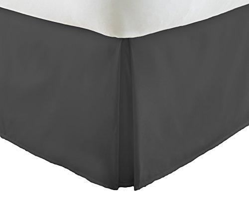 ienjoy Home Becky Cameron Luxus Bundfaltenhose Staub Rüsche Bett Rock, schwarz, Twin XL - Black Queen-size-bett Rock