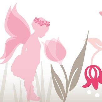 anna wand Bordüre selbstklebend LOVELY FAIRIES - Wandbordüre Kinderzimmer / Babyzimmer mit Feen & Elfen in Rosa-Taupe - Wandtattoo Schlafzimmer...