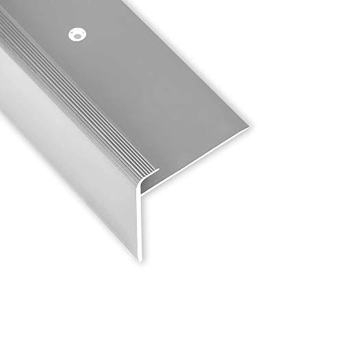 Toolerando Treppenkantenprofil - 90 cm, F-Form, Schraubmontage, silber