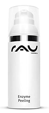 RAU Enzyme Peeling 50 ml - Deeply Cleansing & Anti-Wrinkle Enzymatic Face Peel - with Fruit Acid, Squalane and Shea Butter - also suitable for impure, keratosis and psoriasis skin