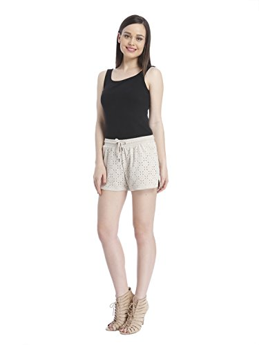 ONLY - Femme shorts lola faux suede Gris