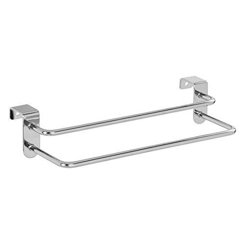 InterDesign 97592EU Metalo Handtuchhalter mit 2 Stangen zum Hängen über die Schranktür, chrom (Handtuch-kollektion Moderne)