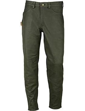 Jagd Stiefelhose Leder, Lederhose Herren Damen lang - Lederjeans- Fuente Echt Leder Lederhose Jeans 501- Jagdlederhose