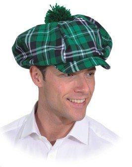 Kostüm Golfer - Orlob Mütze grün kariert zu Schotten Golfer Kostüm Karneval Fasching KW60