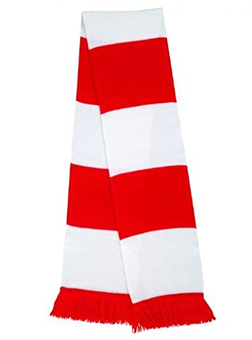 RESULT TEAM SCARF FOOTBALL RUGBY SPORT - 12 COLOURS (WHITE / RED)