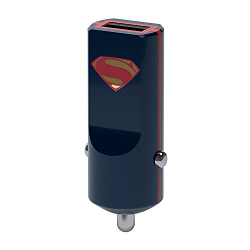 Tribe DC Comics - Kfz Auto Ladegerät 2.4 A I Fast Charge I 1 Port USB Ladegerät für iPhone 7, 6/6S, 5, Samsung Galaxy S6, iPad Tablet PC etc. - Superman