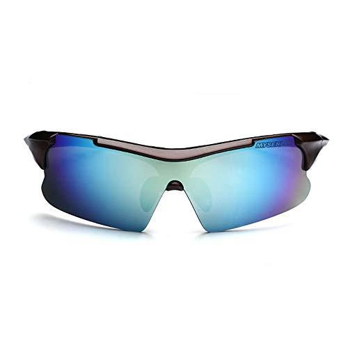 Easy Go Shopping Geeignet für Outdoor-Radsportliebhaber Radsportbrille Fahrrad Farbwechselbrille Erwachsene Outdoor-Brille Sonnenbrillen und Flacher Spiegel (Farbe : Braun)