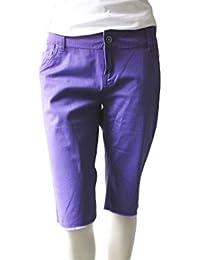 NOMIS Damen Bermuda Shorts, lila in Größe M Damenmode NOMIS Skater Shorts#K11