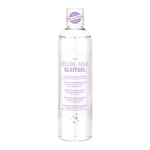 Deluxe Aqua Gleitgel von EIS, wasserbasierte Langzeitwirkung, prickelnd, 300 ml