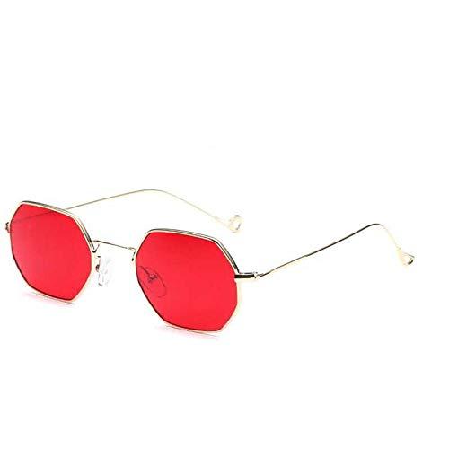 AAMOUSE Sonnenbrille aus Polygon mit Sechskant-Männer-Frauen-Vintage-Sonnenbrillen mit sechseckigemMetallrahmen