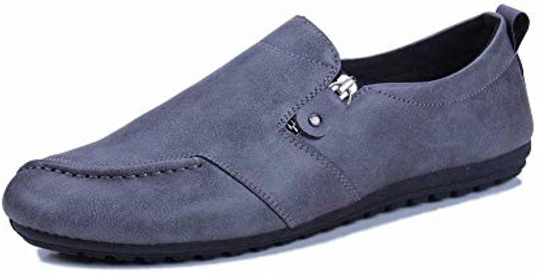 Fuxitoggo Pea scarpe Personality Tide scarpe verde Casual Soft Bottom Bottom Lazy scarpe (Coloreee   Grigio, Dimensione...   Il colore è molto evidente    Uomo/Donne Scarpa