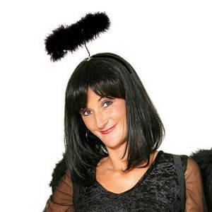 Haarreif Heiligenschein, schwarz PREISHIT (Teletubby-kostüme Für Erwachsene)