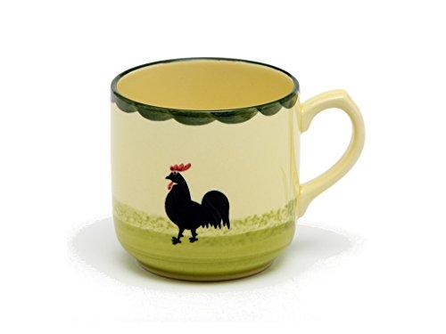 Tasse à café Zeller - en céramique - Motif Coq et Poule - 0,3 l