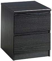 Tvilum Particle Board Naia Night Stand, 71069, Black Woodgrain, H 49.5 x W 50 x D 40.2 cm, DIY