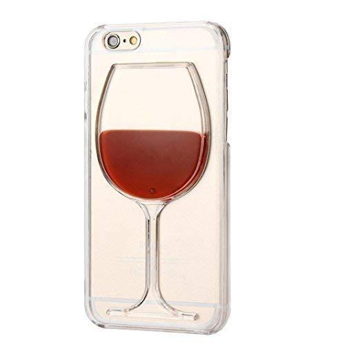 Monaldy IPHONE 6/6S Wein Glas Hülle (4.7inch) Rot Flüssigkeit Telefon Schutz Dünne Cover (Glas Wein Telefon)