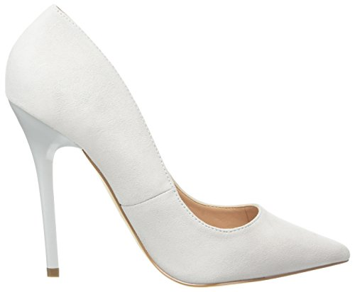 Unbekannt Damen On Tops Pumps White (White Suede)