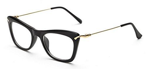4ed4957f82fba9 Y-BOA Monture De Lunette Cadre Femme Homme Vintage Rétro Eyeglasses Lentille  Claire Transparent